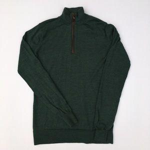 Orvis women's 100% wool mock turtleneck sweater, S